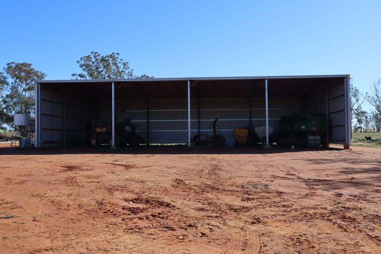 ABC Sheds farm machinery storage shed