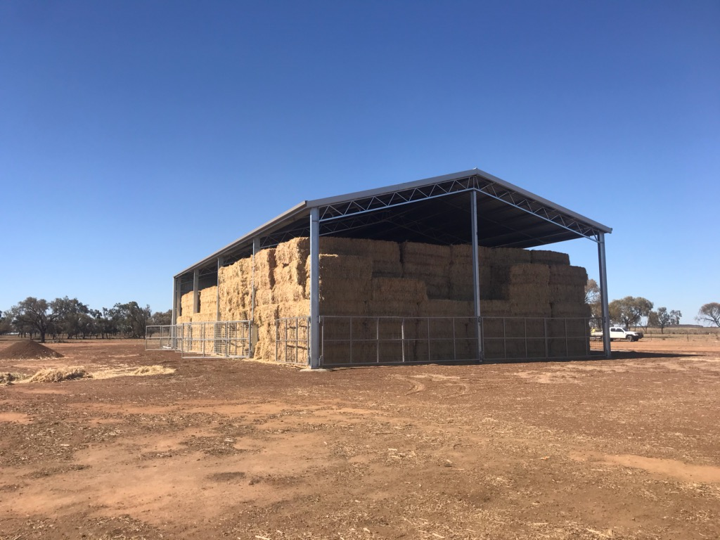 ABC Sheds hay shed with gates