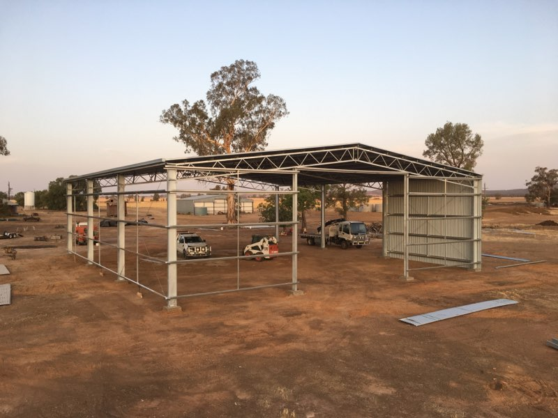 ABC Sheds farm shed being built
