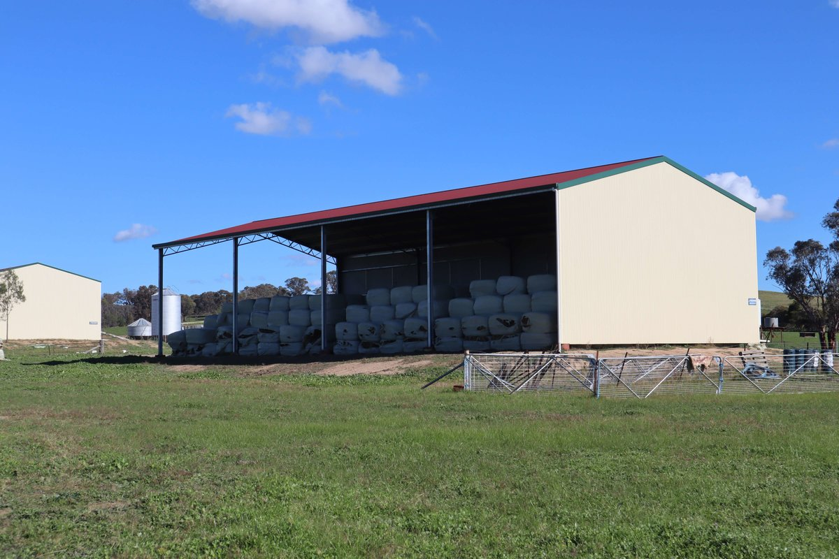 ABC Sheds two sided hay shed