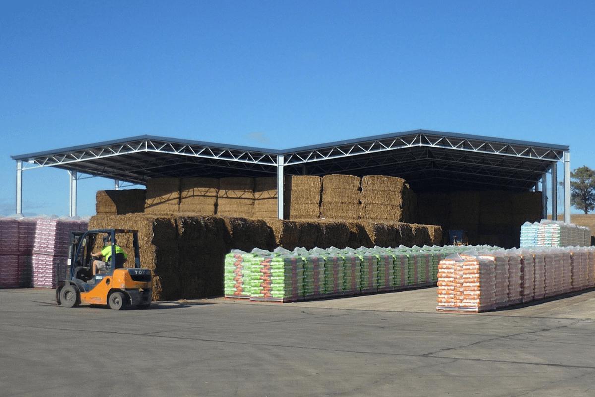 On-site hay storage