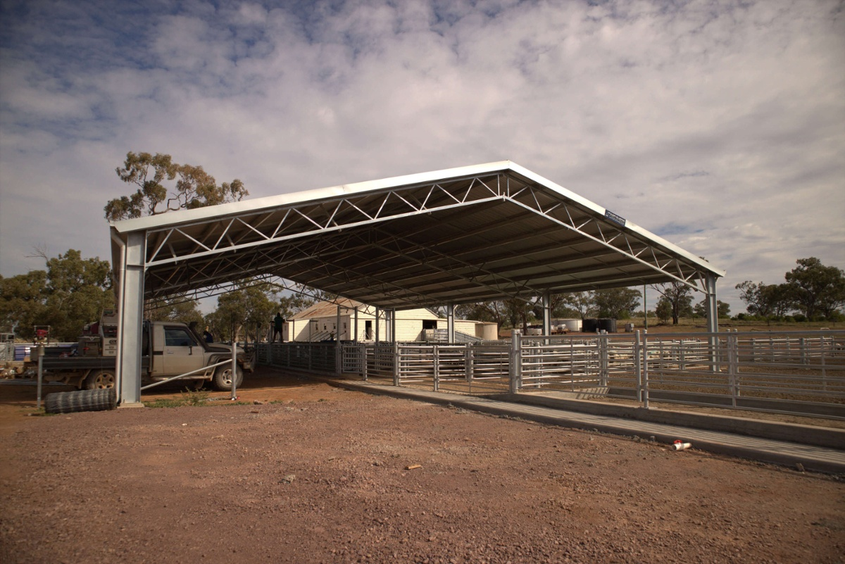 ABC Sheds hot-dip galvanised shed
