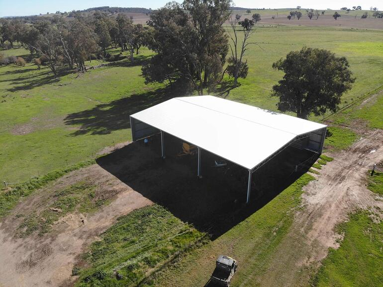 ABC Sheds farm shed with gable roof