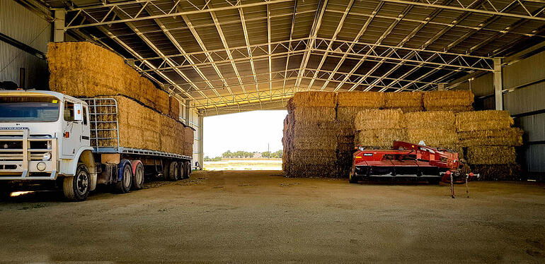 Get a tax advantage for a hay shed