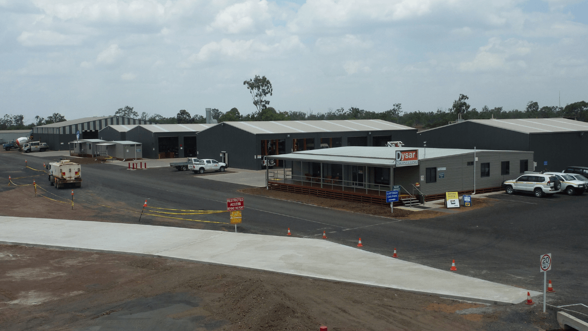 ABC Sheds freight and logistics warehouse