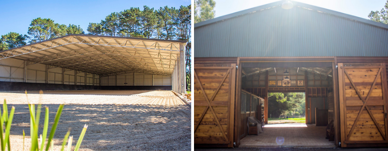 Dressage arena and horse stables in NSW custom built by ABC Sheds