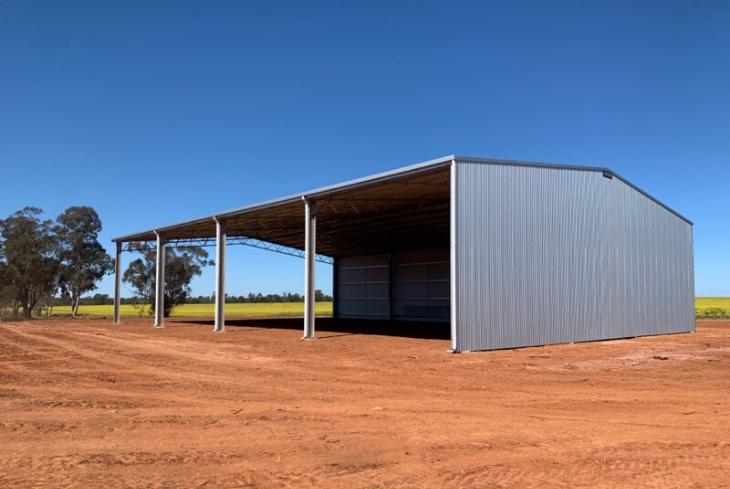 EOFY shed sale - 21m span farm shed