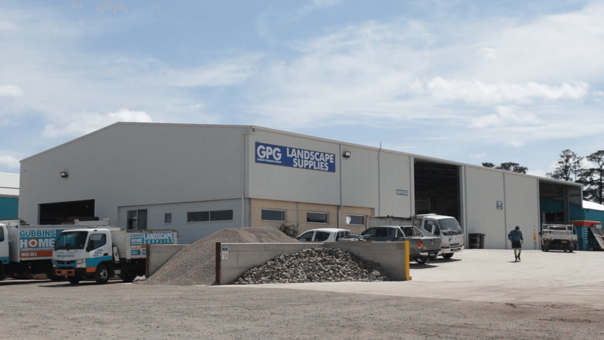 GPG Landscape Supplies commercial shed