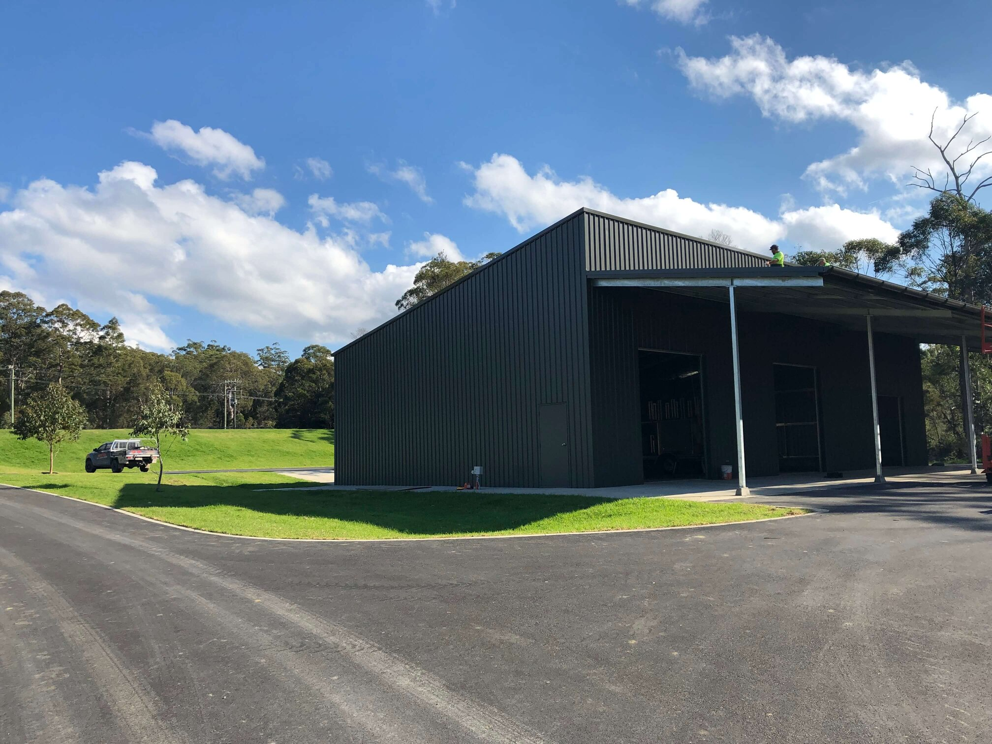 ABC Sheds shed with skillion roof