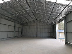 Steel workshop with sliding doors in Goulburn