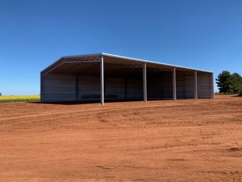 Two sided hay shed in Currawarna NSW
