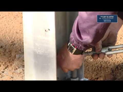 DIY shed erection - ABC Sheds