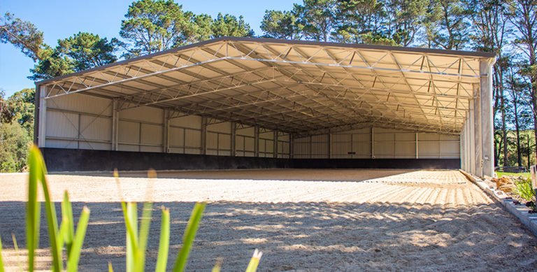 How to build a dressage arena in photos