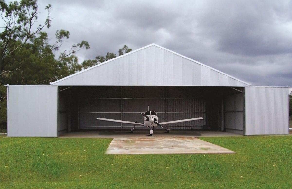 ABC Sheds aircraft hangar