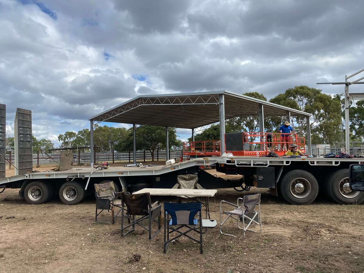 Cyclone rated shed being constructed in Nebo