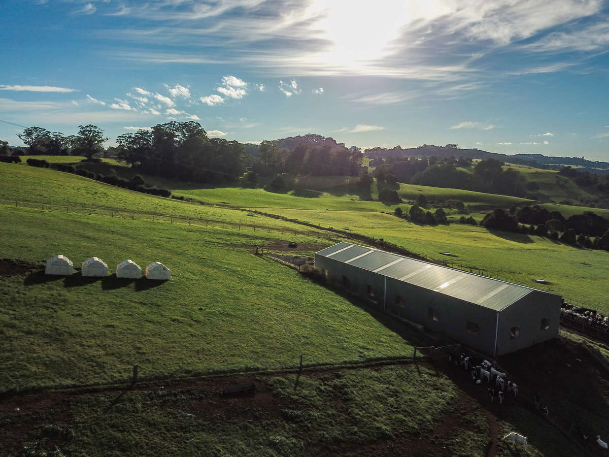 Bird's eye view of farm shed - Burrawang