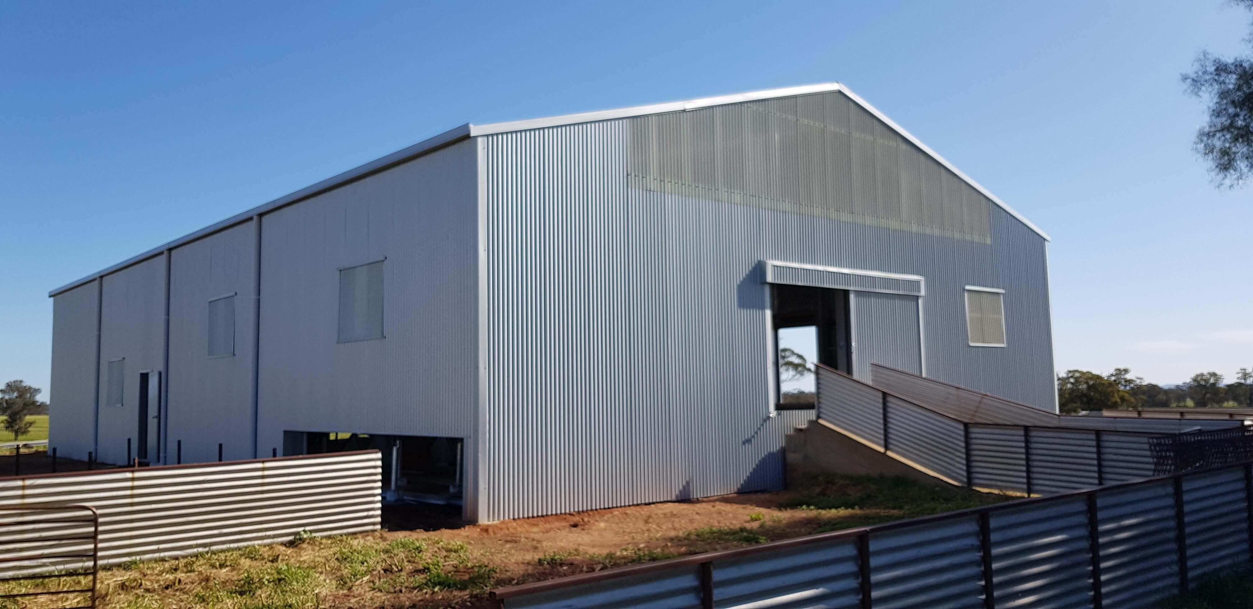 Shearing shed and yards