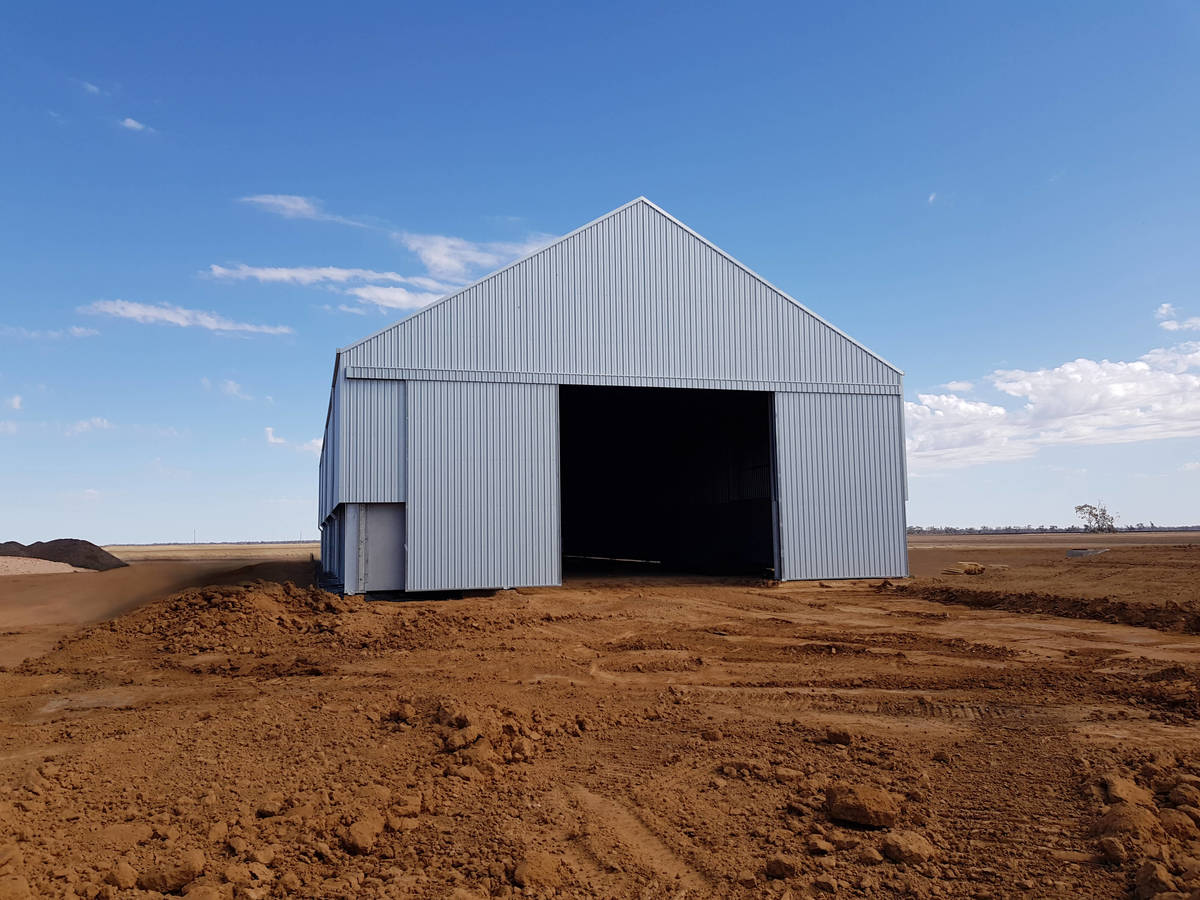 Grain shed in Merah North