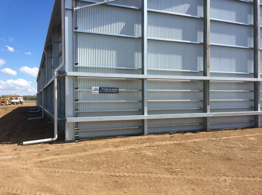Back of grain shed in Mungindi