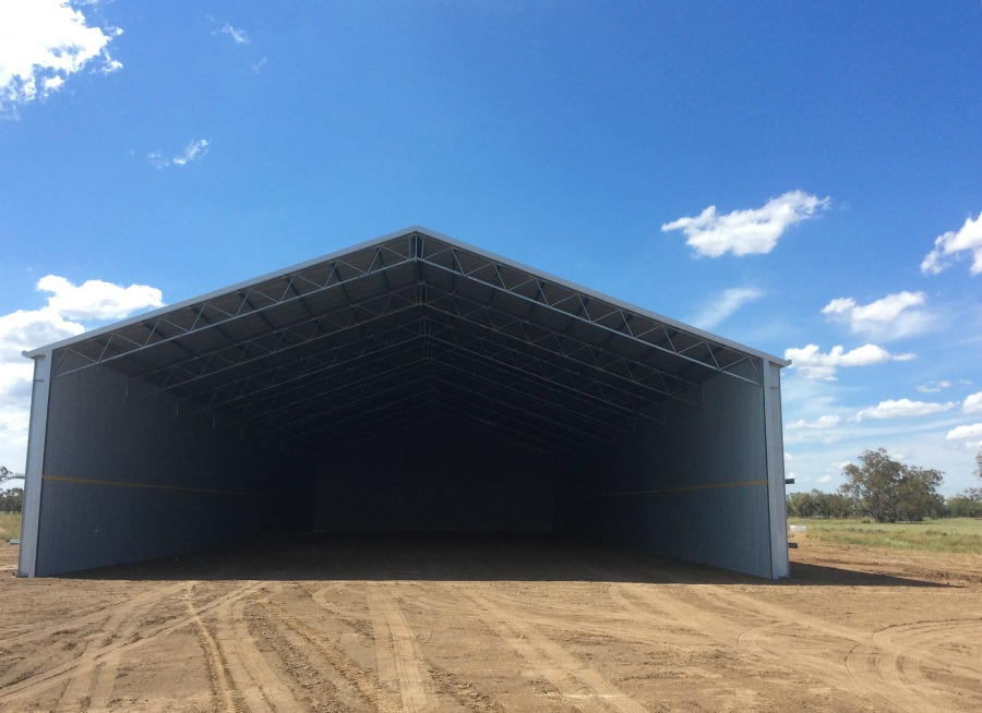Grain shed in Mungindi