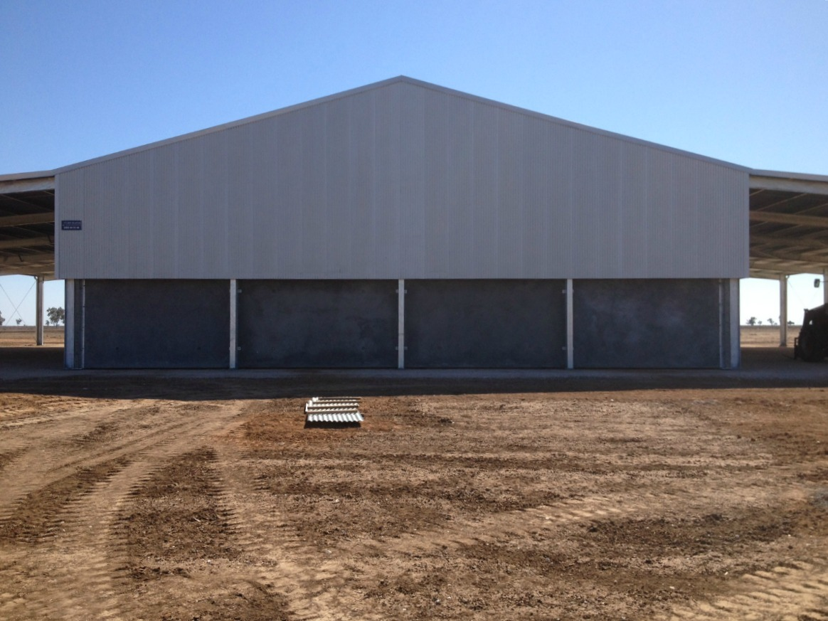 Back of grain shed in Walgett