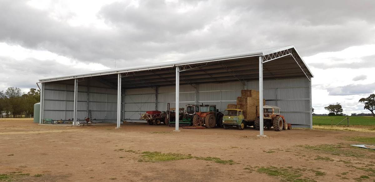 Slanted view of hay shed - NSW