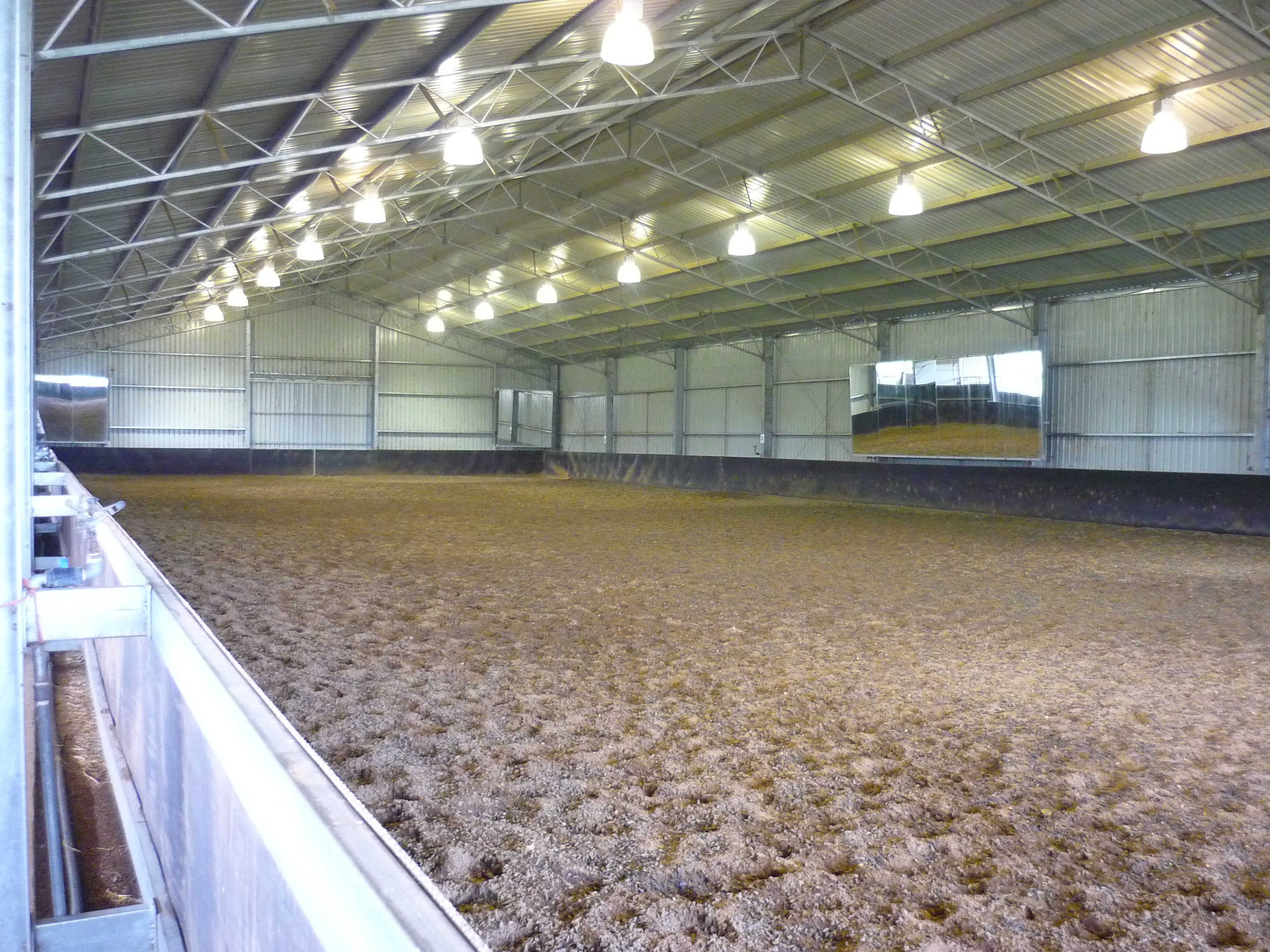 Covered dressage arena