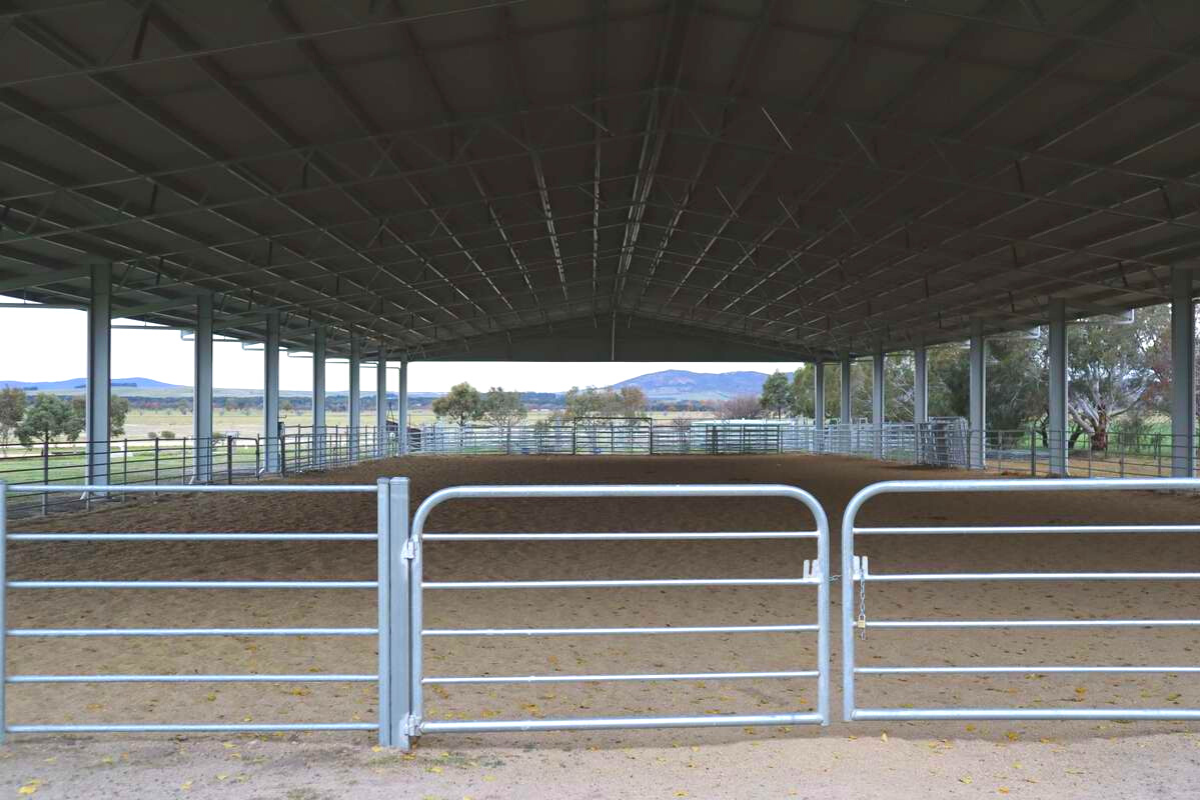 Inside Bungendore Showgrounds dressage arena