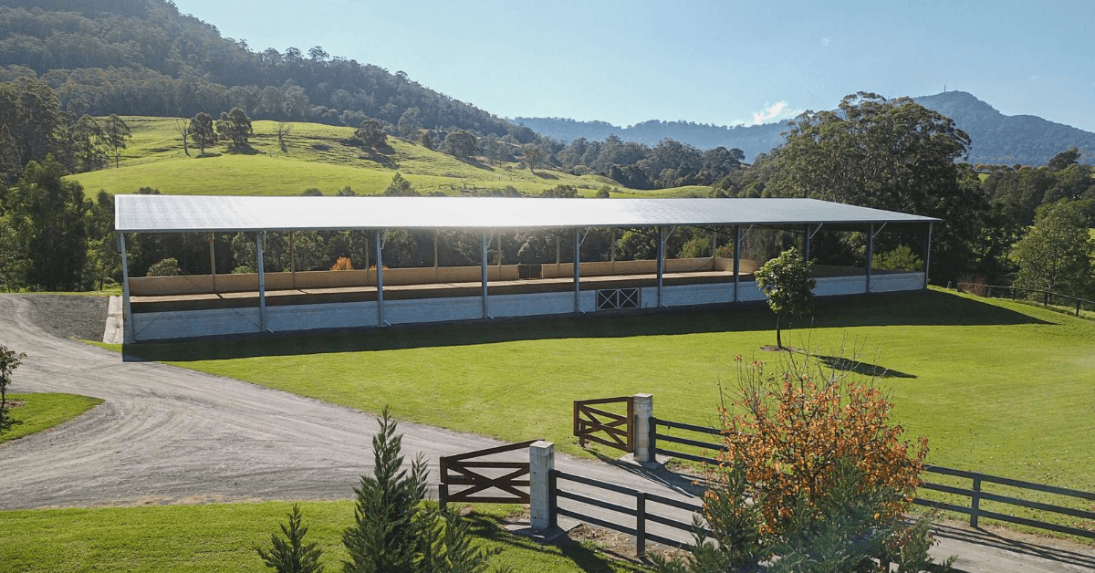 ABC Sheds enclosed dressage arena