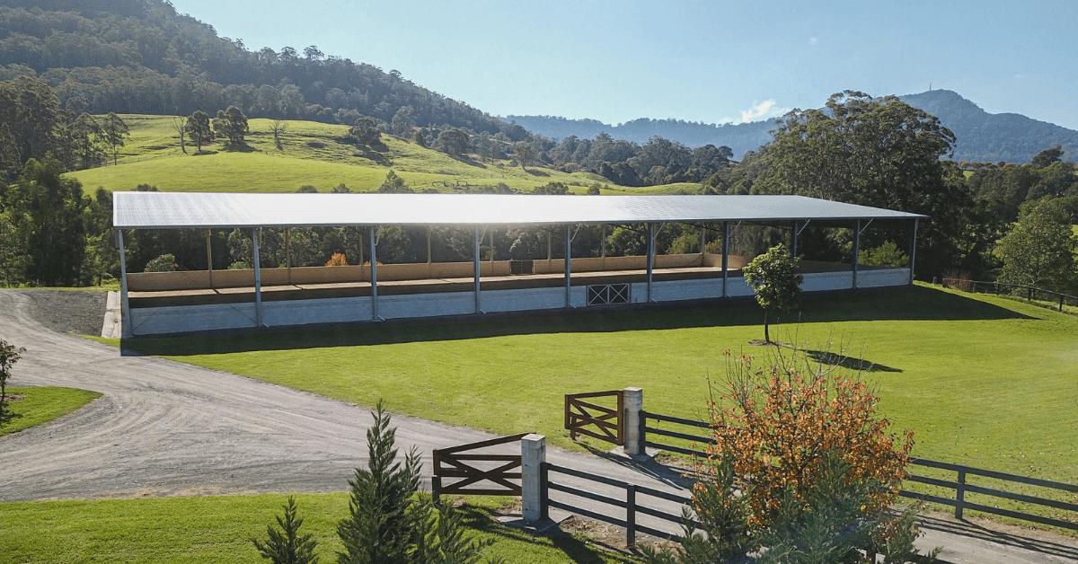 ABC Sheds enclosed dressage arena