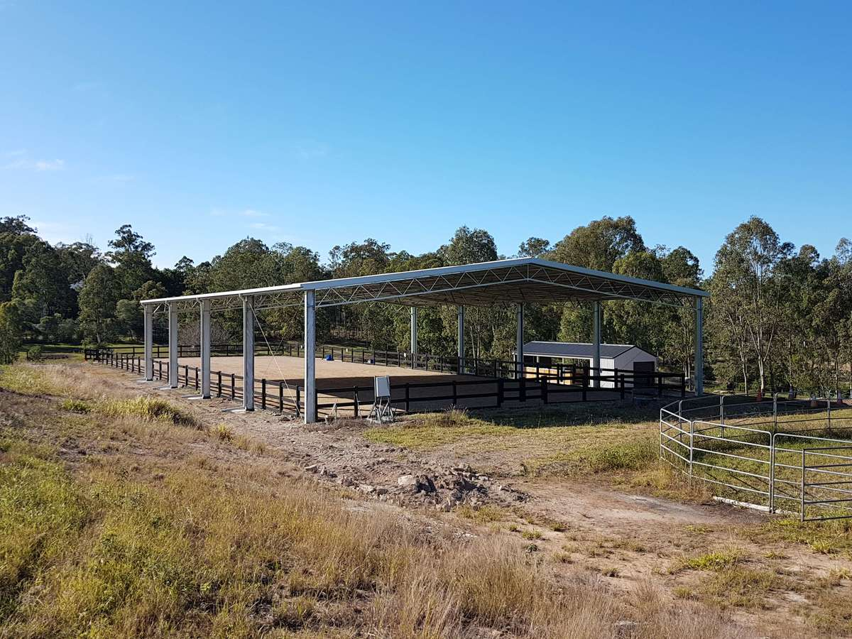 Dressage arena - Moggill - Slanted view