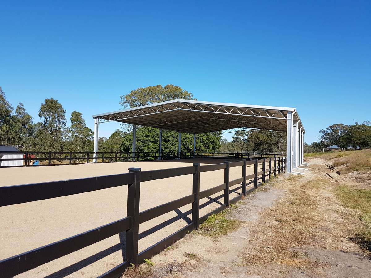 ABC Sheds dressage arena in Moggill QLD