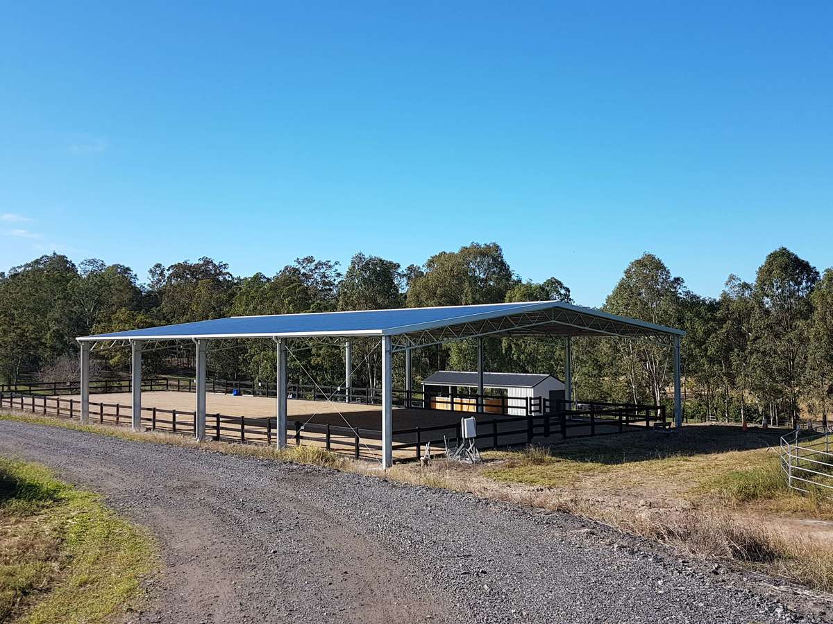 Dressage arena - Moggill - Side view