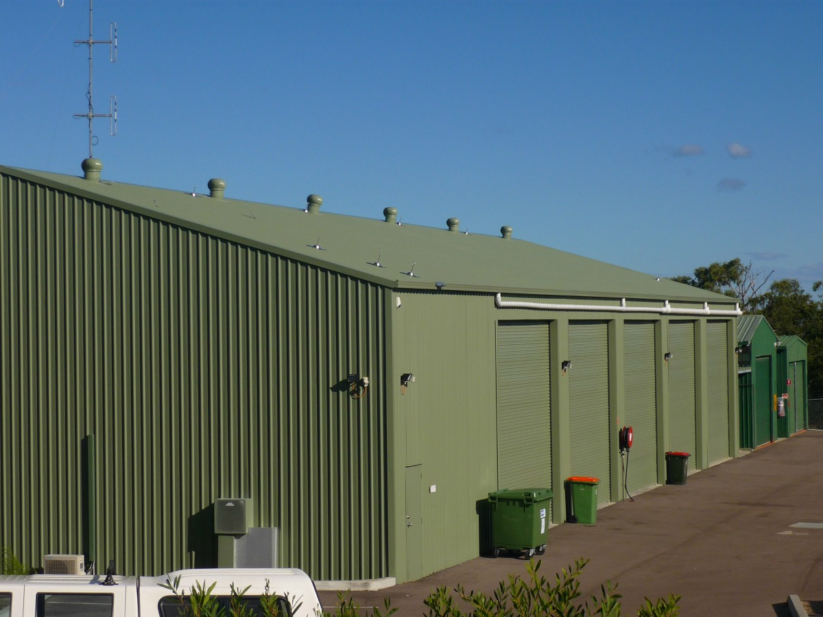 Commercial shed - Lake Munmorah - Front view