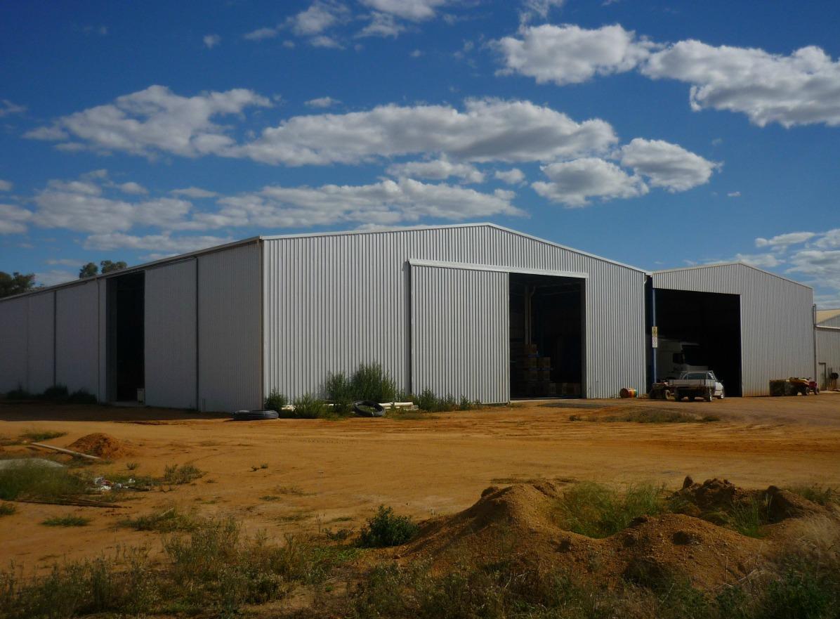 Commercial sheds - West Billimari - Side view