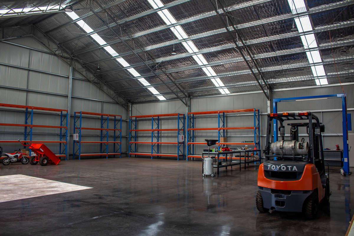 Inside view of workshop in Burradoo