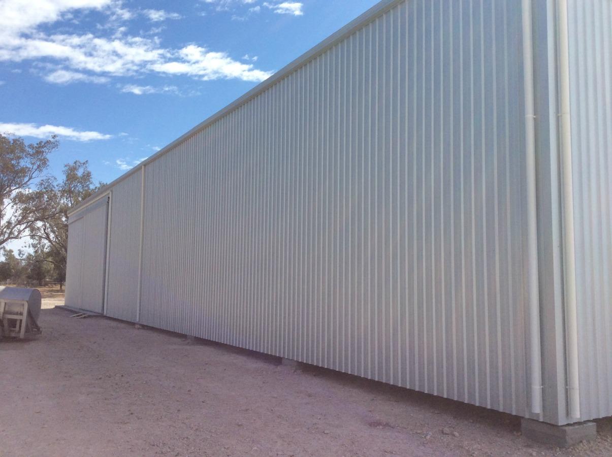 Side of workshop in Tallwood