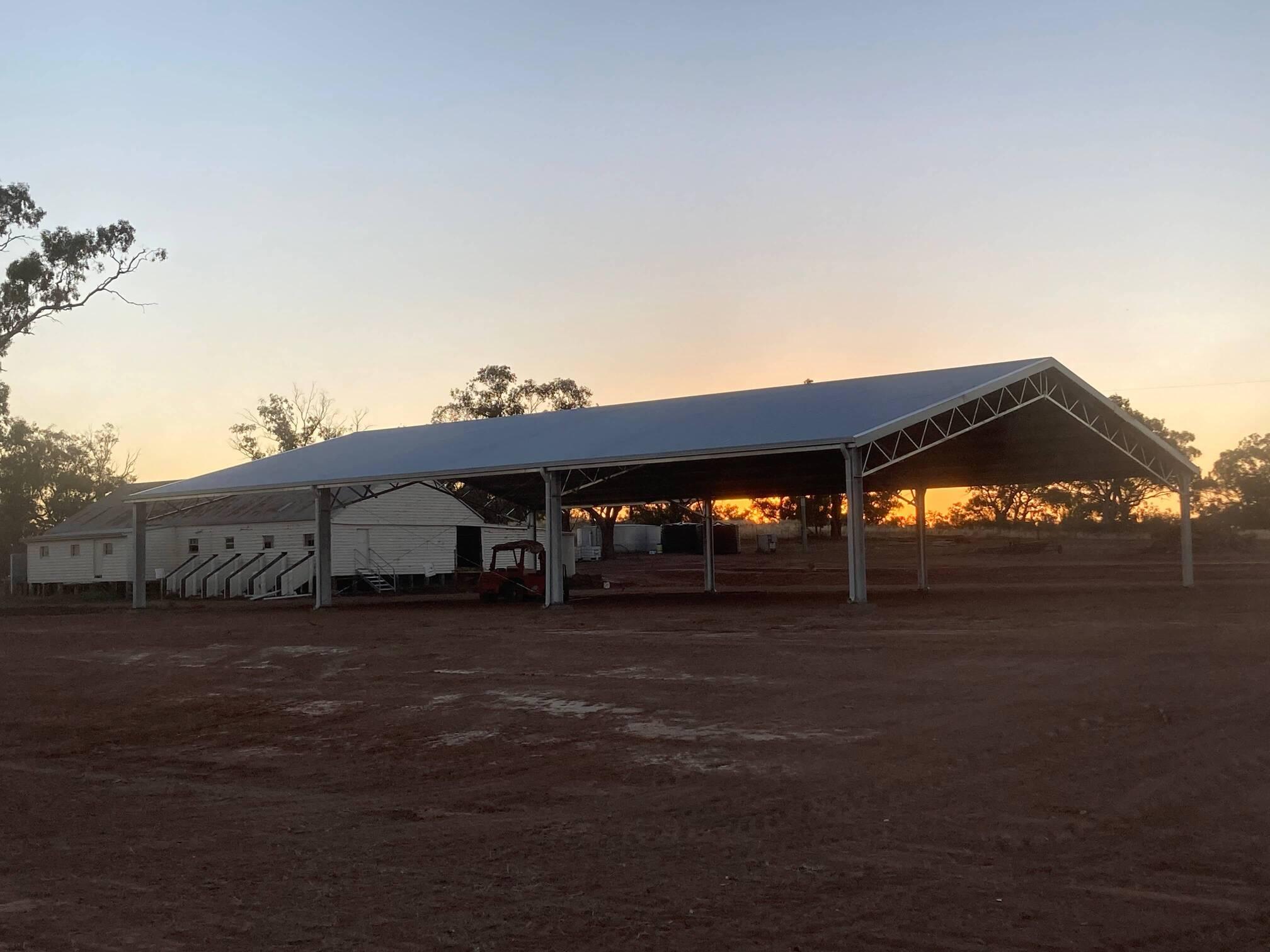 Yard cover at dusk