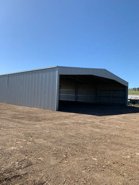 Drive in hay shed in Merriwa NSW