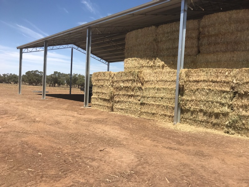 Hay shed in Coleambally NSW