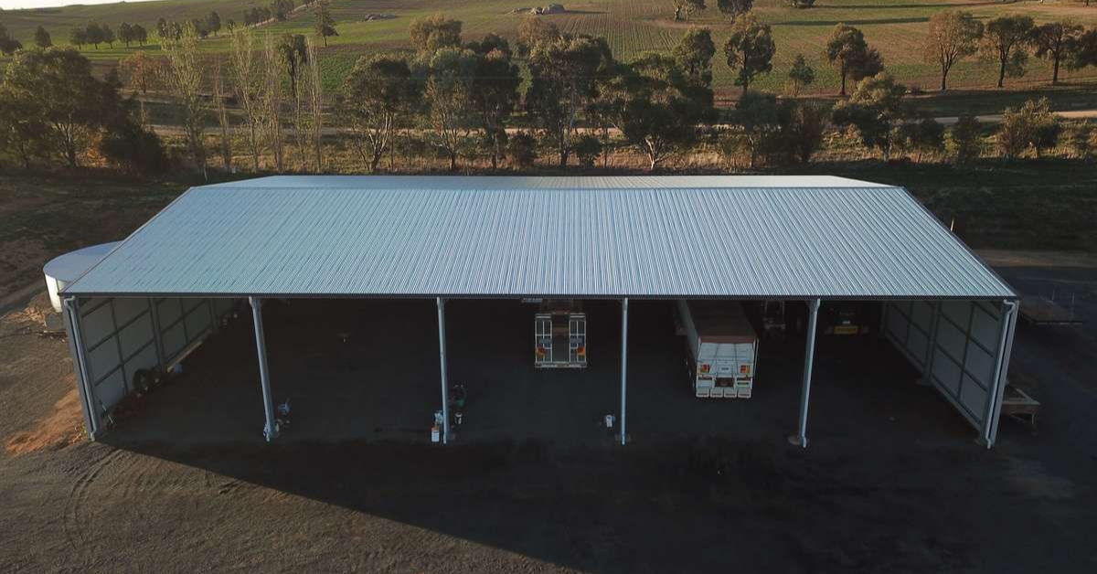 ABC Sheds farm machinery storage shed