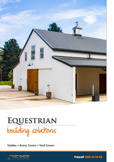 ABC Sheds equestrian buildings brochure