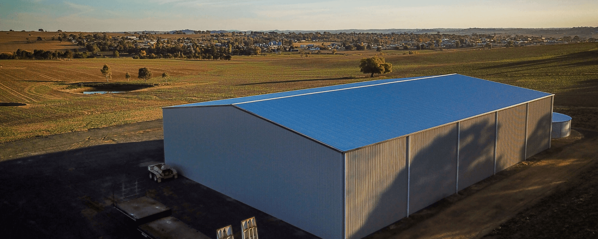 Get ready for harvest season! View our hay and grain sheds.