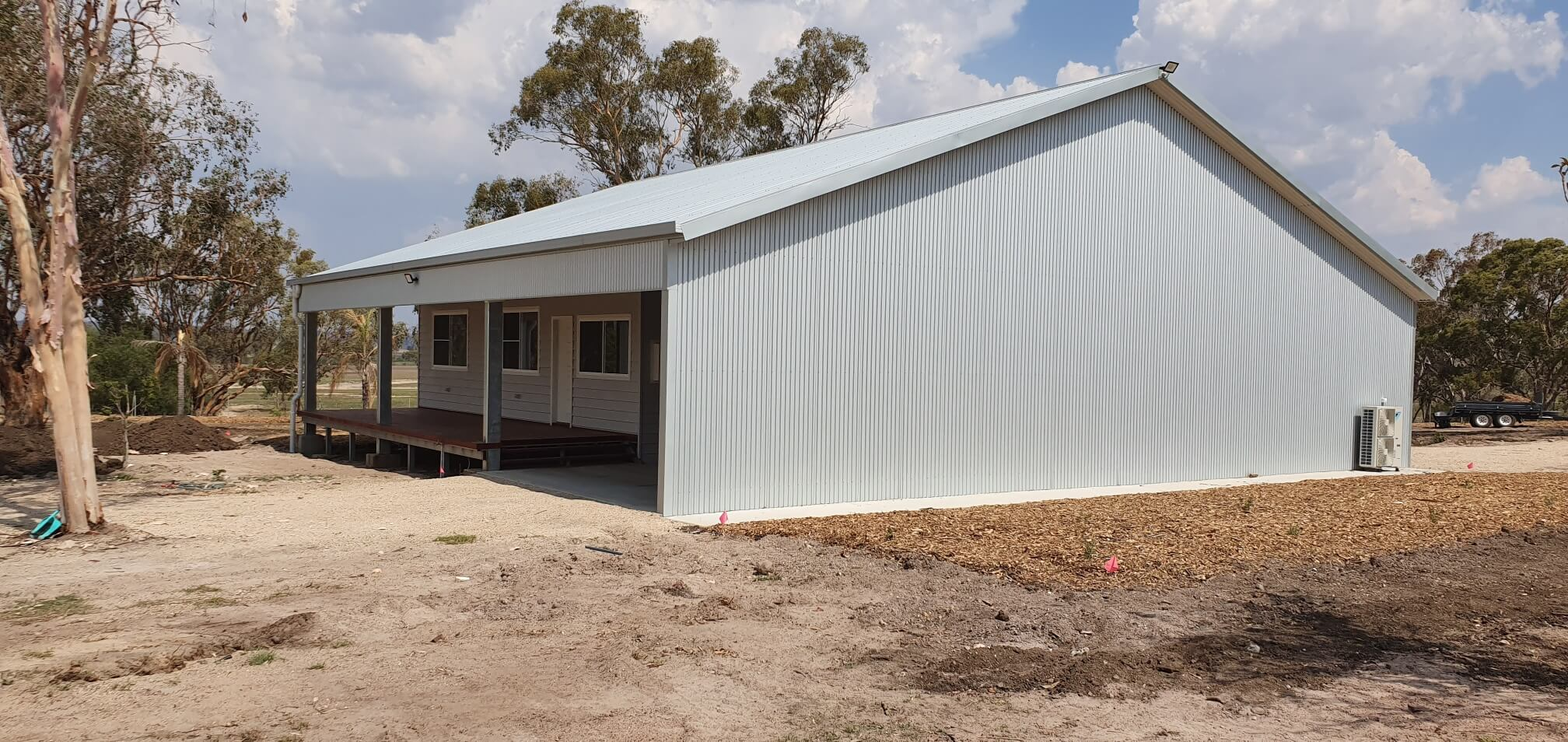 House and steel shed combined in Inverell NSW